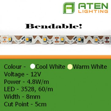 Bendable LED 12V 3528 4.8W/m