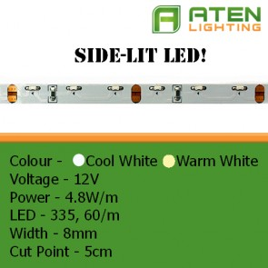 Side Lit LED 12V 3528 4.8W/m