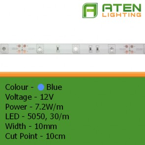 LED 12V 5050 7.2W/m Blue