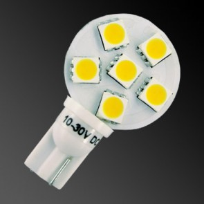 6 LED T10 Side Pin